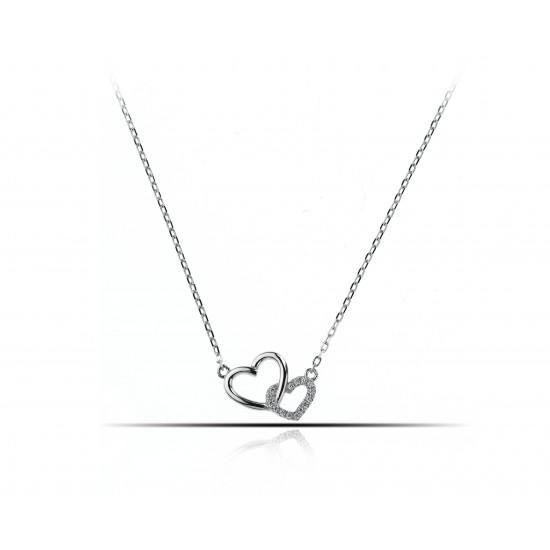 Náhrdelník propojené srdce