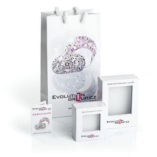 Sada šperků s krystaly Swarovski náušnice a přívěsek AB efekt slza 39083.2