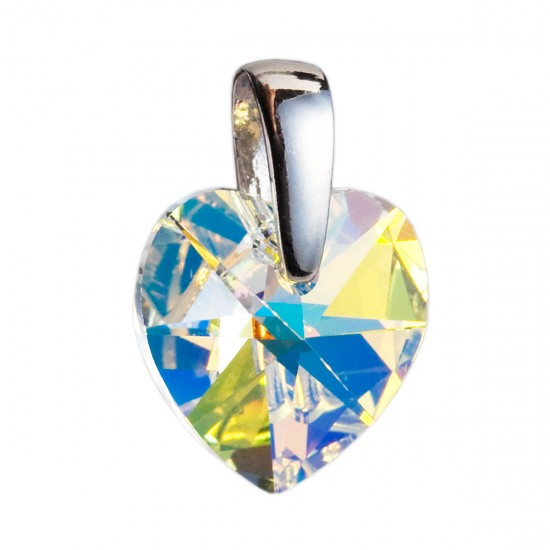Stříbrný přívěsek s krystaly Swarovski AB efekt srdce 34003.2
