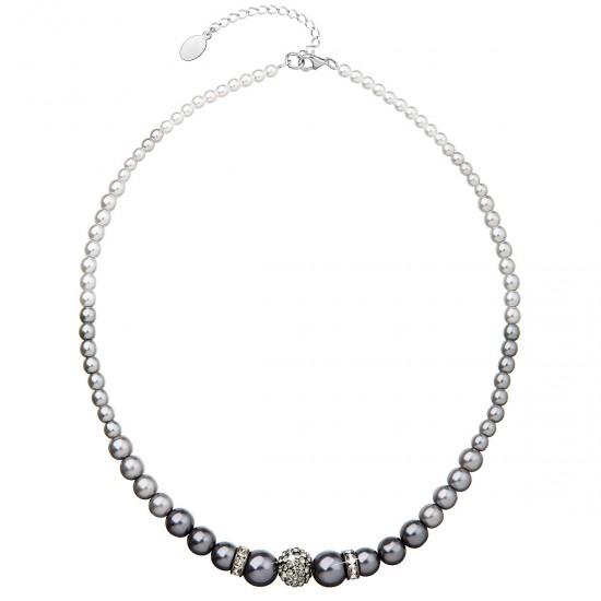 Perlový náhrdelník šedý 32008.3