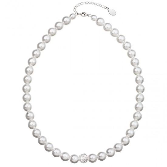 Perlový náhrdelník bílý 32011.1