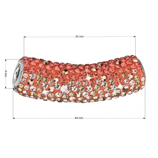 Stříbrný přívěsek s krystaly Swarovski oranžová trubička 34132.4
