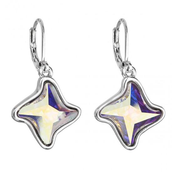 Náušnice bižuterie se Swarovski krystaly AB efekt hvězdička 51055.2