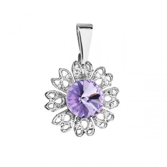 Přívěsek bižuterie se Swarovski krystaly fialová kytička 54032.3