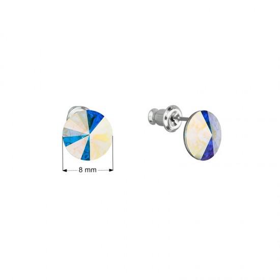 Náušnice bižuterie se Swarovski krystaly bílé kulaté 51037.1 AB