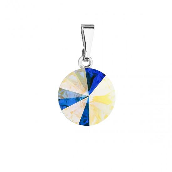 Přívěsek bižuterie se Swarovski krystaly AB efekt kulatý 54001.2