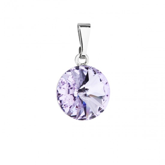 Přívěsek bižuterie se Swarovski krystaly fialový kulatý 54001.3 violet