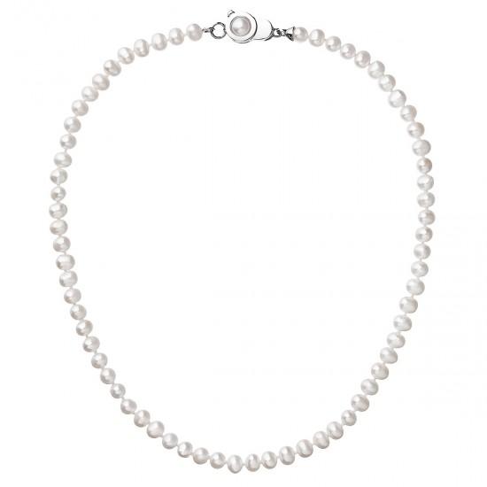 Perlový náhrdelník z pravých říčních perel bílý 22006.1