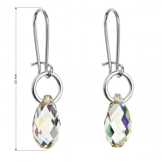 Náušnice bižuterie se Swarovski krystaly slza 56004.6