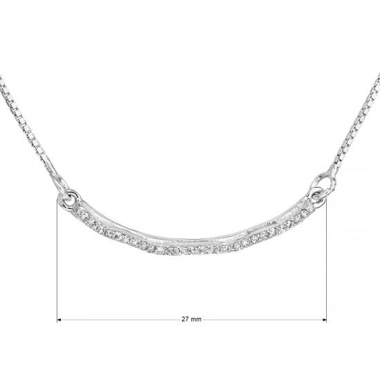 Stříbrný náhrdelník se zirkonem v bílé barvě 12023.1