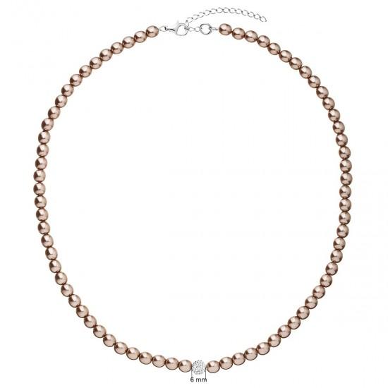 Perlový náhrdelník hnědý 32063.3