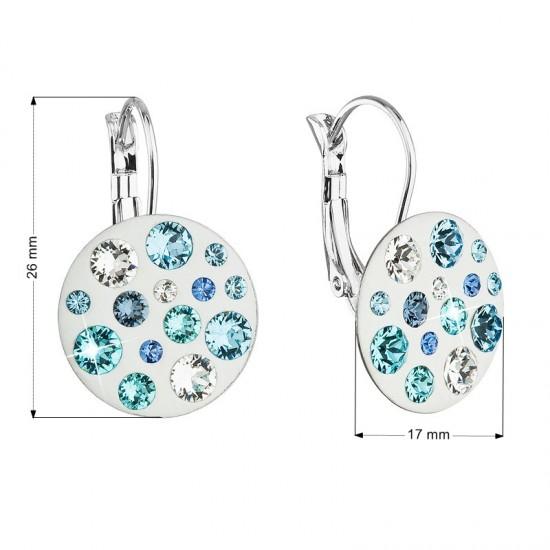 Náušnice bižuterie se Swarovski krystaly modré kulaté 51034.3