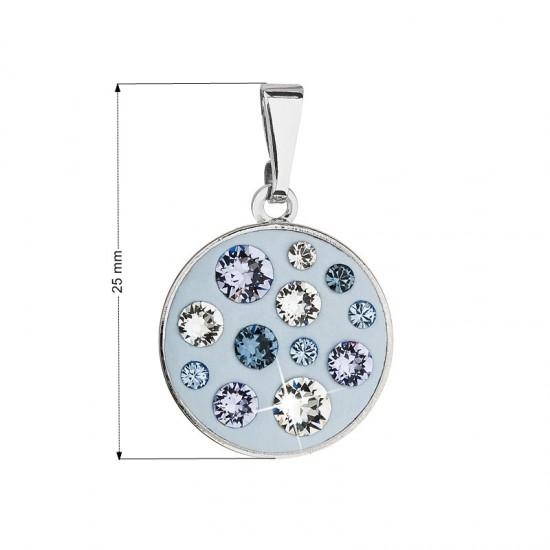 Přívěsek bižuterie se Swarovski krystaly modrý kulatý 54024.3