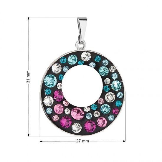 Přívěsek bižuterie se Swarovski krystaly fialový kulatý 54026.3