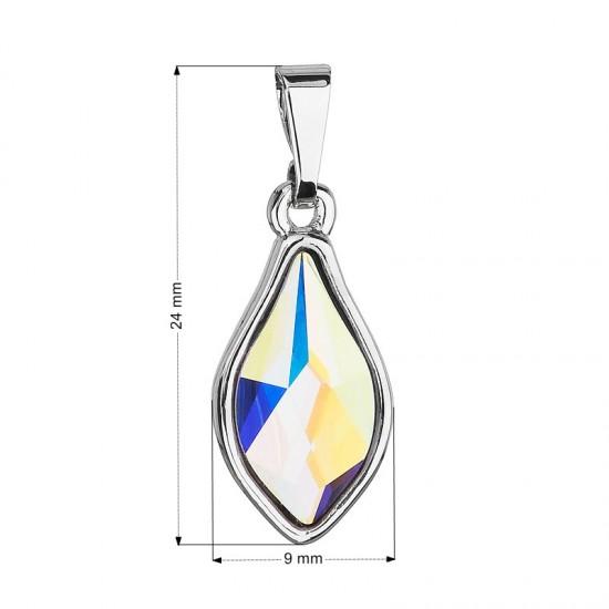 Přívěsek bižuterie se Swarovski krystaly AB efekt kapka 54035.2