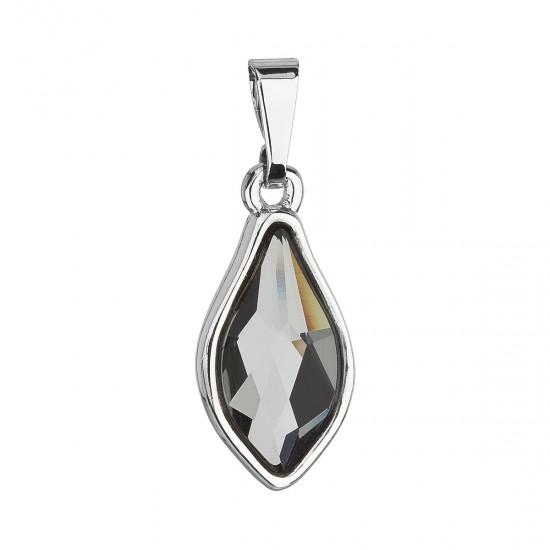 Přívěsek bižuterie se Swarovski krystaly šedá kapka 54035.5