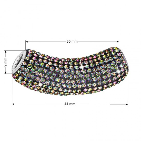 Stříbrný přívěsek s krystaly zelená trubička 734132.5 vitrail medium