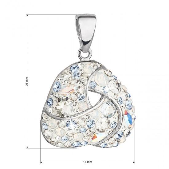 Stříbrný přívěsek s krystaly Swarovski modrý 34189.3 light sapphire