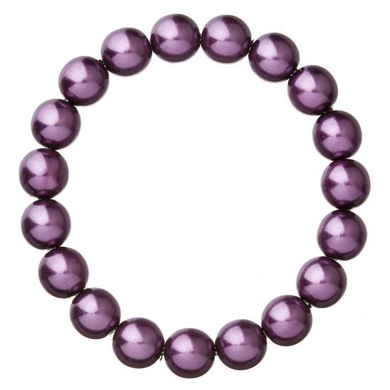 Perlový náramek fialový 56010.3 dark violet
