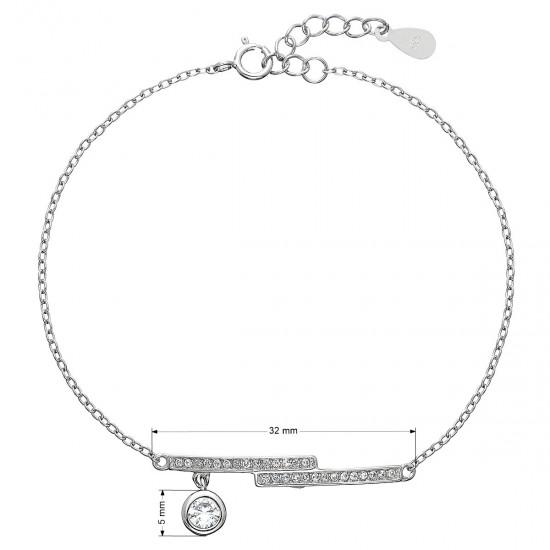 Stříbrný náramek se zirkony 13013.1