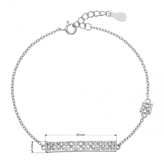 Stříbrný náramek se zirkony 13014.1