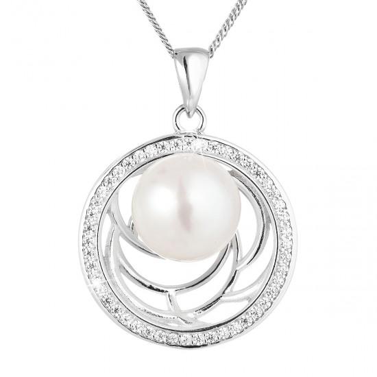 Perlový náhrdelník z pravých říčních perel bílý 22029.1