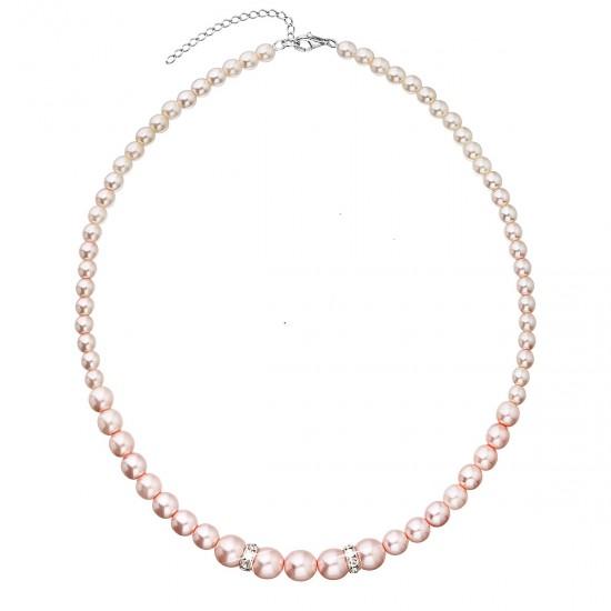 Perlový náhrdelník růžový 32036.3