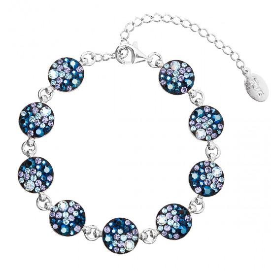 Stříbrný náramek se Swarovski krystaly modrý 33048.3 blue style