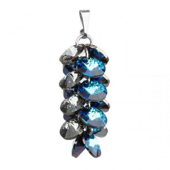 Stříbrný přívěsek s krystaly Swarovski modrý hrozen 34195.5