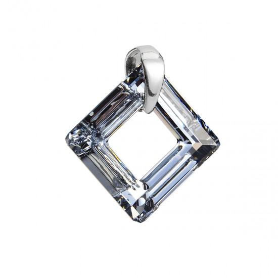 Stříbrný přívěsek s krystaly Swarovski stříbrný kosočtverec 34249.5 calvsi