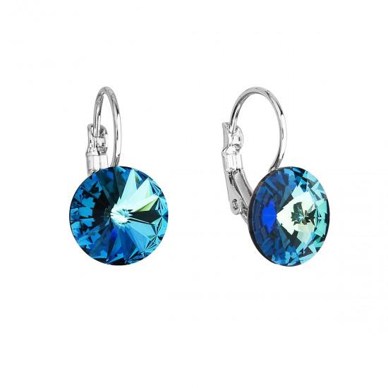 Náušnice bižuterie se Swarovski krystaly modré kulaté 51002.5