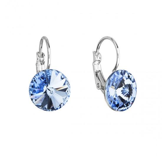 Náušnice bižuterie se Swarovski krystaly modré kulaté 51002.3 sapphire