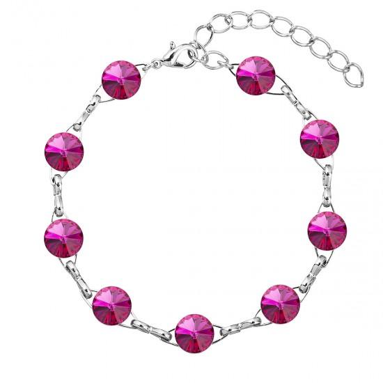 Náramek bižuterie se Swarovski krystaly růžový 53001.3 fuchsia