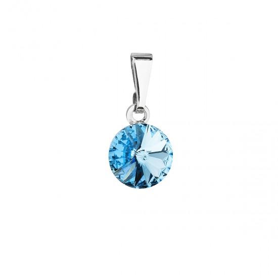 Přívěsek bižuterie se Swarovski krystaly modrý kulatý 54018.3 aqua