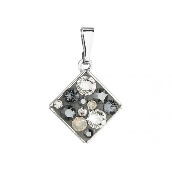 Přívěsek bižuterie se Swarovski krystaly šedý kosočtverec 54020.5