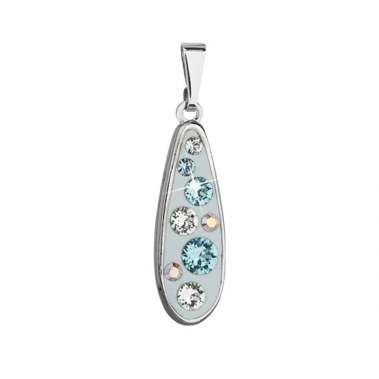 Přívěsek bižuterie se Swarovski krystaly modrá kapka 54025.3
