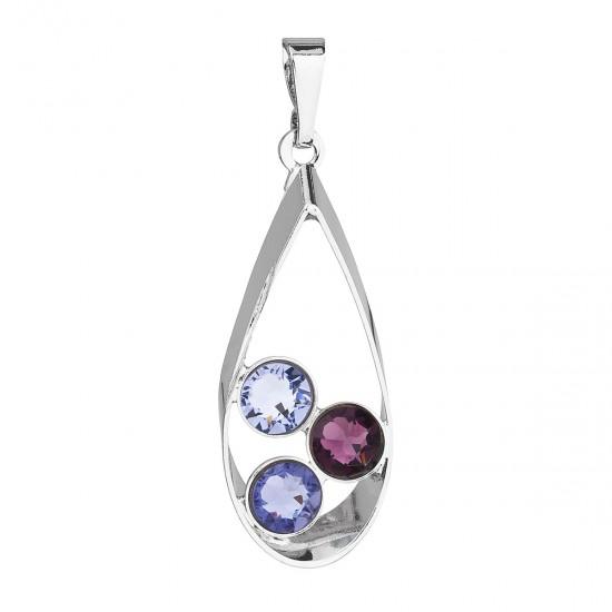 Přívěsek bižuterie se Swarovski krystaly fialová slza 54031.3