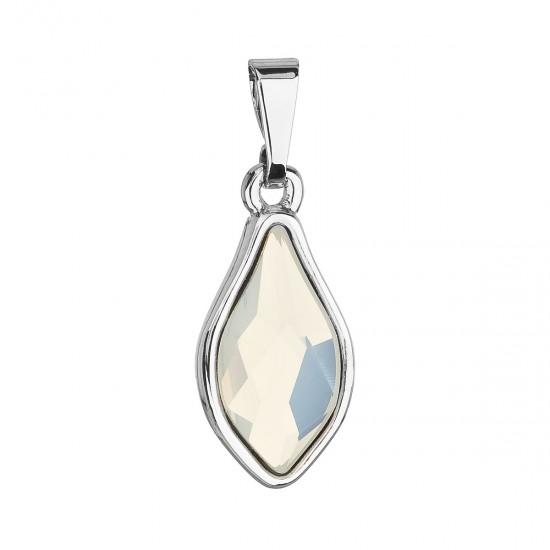 Přívěsek bižuterie se Swarovski krystaly bílá kapka 54035.3 white opal