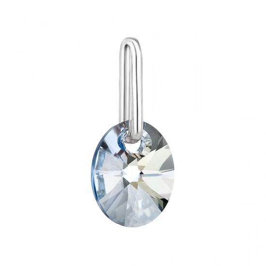 Přívěsek bižuterie se Swarovski krystaly modrý ovál 54039.5