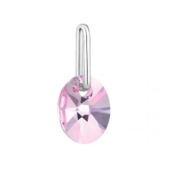 Přívěsek bižuterie se Swarovski krystaly růžový ovál 54039.3