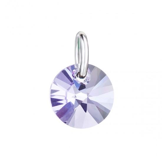 Přívěsek bižuterie se Swarovski krystaly fialový kulatý 54040.3