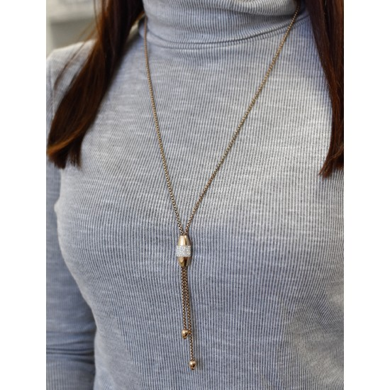 Náhrdelník ocel se Swarovski krystaly 72015.1