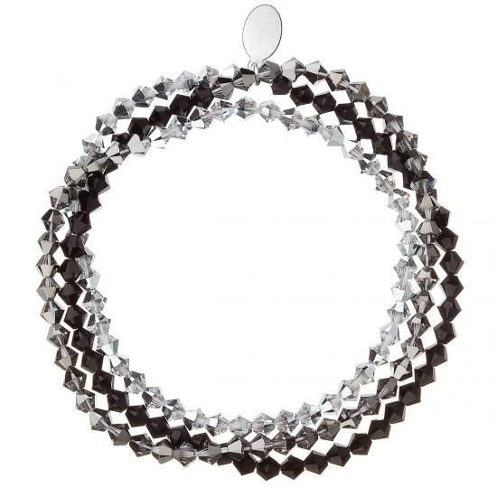 Náramek s krystaly stříbrný 733081.5 silver