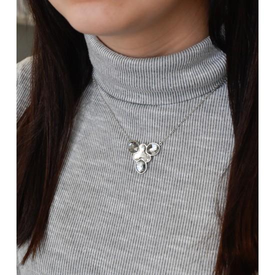 Stříbrný náhrdelník s krystaly Swarovski bílý 72053.3