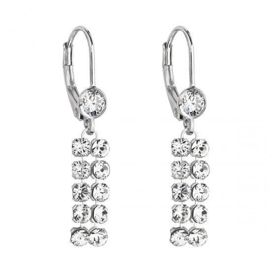 Stříbrné dlouhé náušnice visací se Swarovski krystaly 71110.1