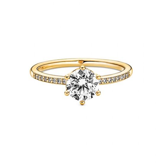 Solitérní prsten Čirá třpytivá korunka
