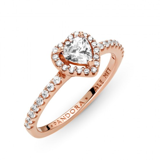 Prsten Třpytivé vyvýšené srdce