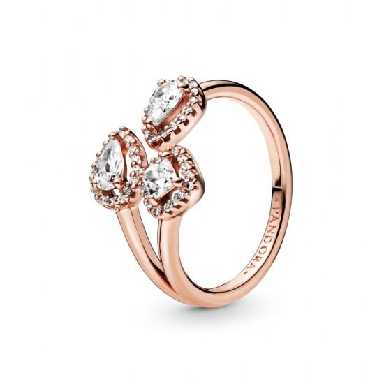Otevřený prsten Geometrické tvary