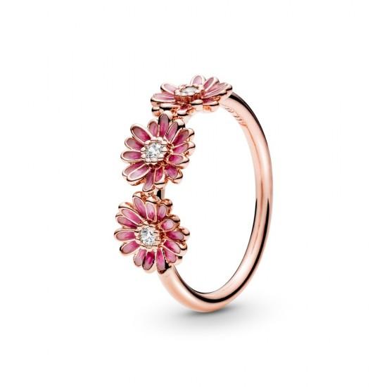 Prsten Trojice růžových sedmikrásek