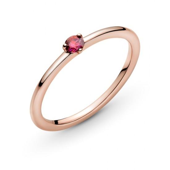 Červený solitérní prsten